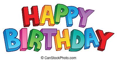 feliz cumpleaños, signo grande, 1