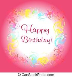 feliz cumpleaños, tarjeta de felicitación, rojo