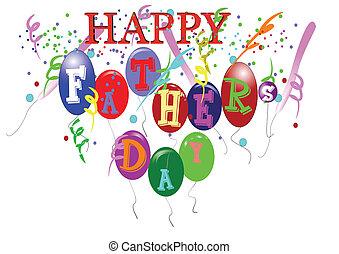 feliz, día de padres, blanco