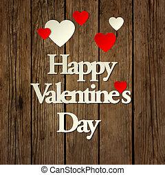 feliz, día de valentines, tarjeta, vector, plano de fondo