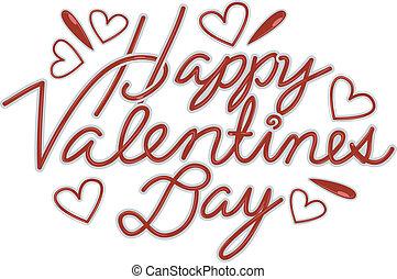 feliz, día de valentines, texto