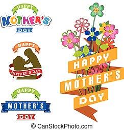 feliz, día madres, celebración