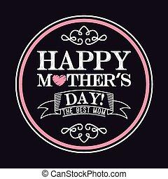 feliz, día, madres
