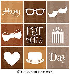 feliz, día, padres
