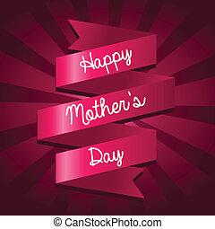 feliz, día, tarjeta, madres