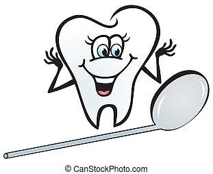 feliz, dente