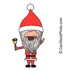 feliz, desenho, natal, santa, caricatura