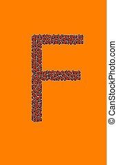 feliz, dia das bruxas, letra alfabeto, f