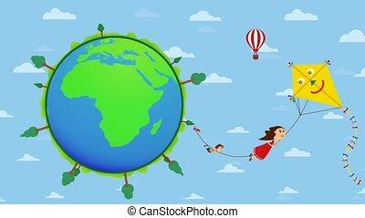 Feliz Dia del Nino greeting card - Happy Children's Day in...