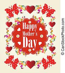 feliz, dia, fundo, mães