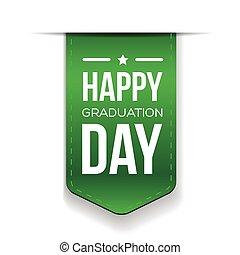 feliz, dia graduação, fita