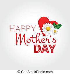 feliz, dia, mãe