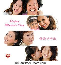 feliz, dia mães