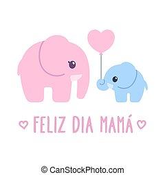 Feliz Dia Mama, Spanish for Happy Mother's Day. Cute ...
