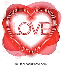 feliz, dia valentine, néon, coração