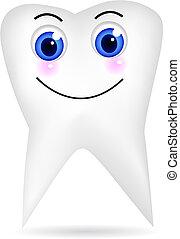 feliz, diente