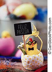 feliz, español, pascua, texto, pascua, feliz