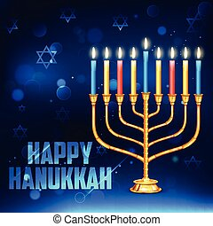 feliz, feriado, plano de fondo, judío, hanukkah
