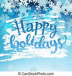 feliz, feriados, geeting, card.