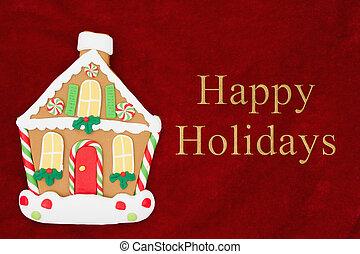 feliz, feriados, saudação