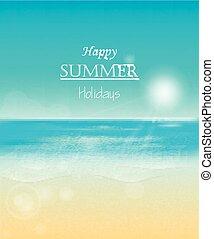 feliz, feriados verão