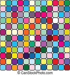 feliz, fundo, em, colorido, quadrados
