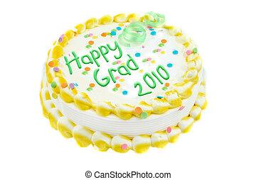 feliz, graduação, bolo