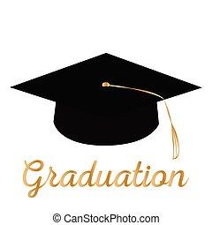 feliz, graduación, plano de fondo