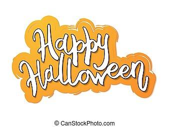 feliz, halloween, mensaje, diseño, fondo.