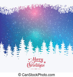 feliz, inverno, coloridos, nevado, fundo, natal