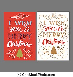 feliz, lettering, cartão natal, mão