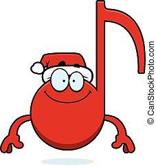 feliz, música, navidad, caricatura