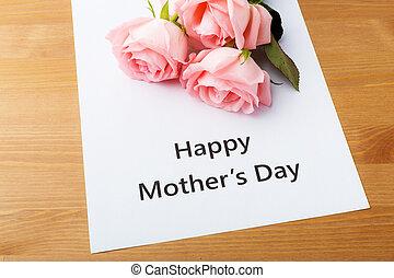 feliz, madre, día, concepto
