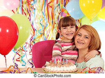 Hija Regalo Cumpleanos Madre Fiesta Feliz