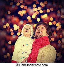 feliz, milagro, navidad de la familia
