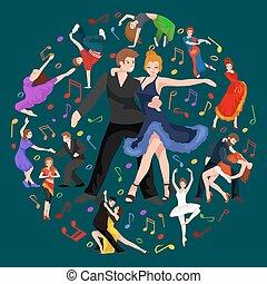 tarjeta de crédito bailarines bailando