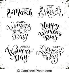 feliz, mulheres, dia, frases