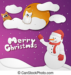 feliz natal, cartão