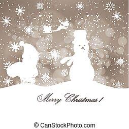 feliz natal, fundo, inverno