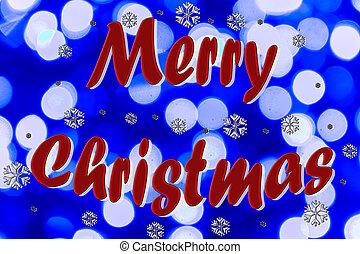 feliz natal, ligado, fundo borrado