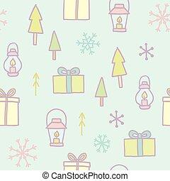 feliz natal, seamless, padrão