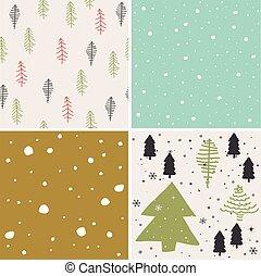 feliz natal, seamless, padrão, jogo, fundo