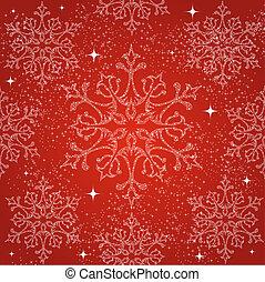 feliz natal, snowflakes, seamless, padrão, experiência.