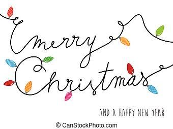 feliz natal, texto, criado, de, cabo poder, com, lotes, de,...