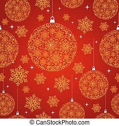 feliz natal, vermelho, seamless, padrão, experiência.
