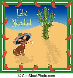Feliz Navidad Chihuahua - Chihuahua puppy wears a sombrero ...