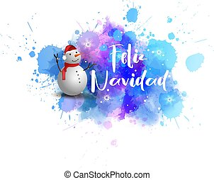 Feliz Navidad - holiday background