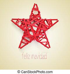 feliz navidad, merry christmas in spanish - a red christmas...