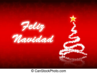 Feliz Navidad - Merry Christmas postcard in spanish...