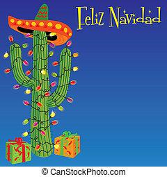 Feliz Navidad - Mexican christmas cactus